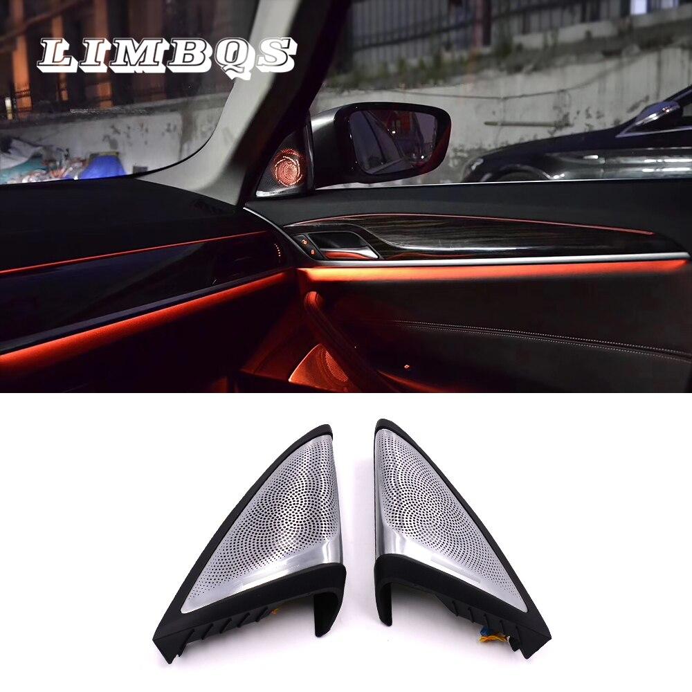 Porta lateral alto-falante para bmw g30 g38 série 5 diamante dome tweeters sincronizado com luz ambiente alto-falante do carro led tweeter luz