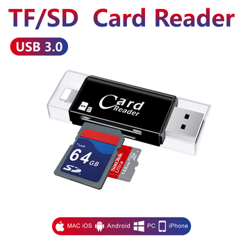 memory card reader for Apple iphone 6s 7 plus Pendrive metal Expansion Android phone OTG memory tf card reader usb3.0