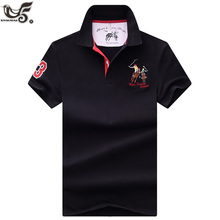 new Tops&Tees Men's Polo shirts Business men brands Polo Shirts 3D embroidery mens Breathable gym polo shirt