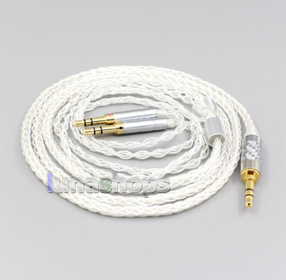 2.5mm 4.4mm XLR 8 Core argent plaqué OCC câble pour Hifiman Sundara Ananda HE1000se HE6se he400 3.5mm broche LN006567