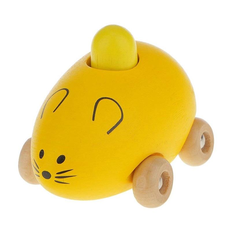 Children Baby Toys Mini Wooden Sound BB Mouse Car Shape Model