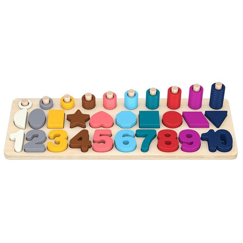 Children Eduactional Toys Multi-Function Logarithmic Board Educational Wooden Toys For Children Wooden Math Toys