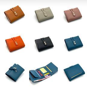 Image 3 - 2020 가죽 디자이너 접이식 여성용 지갑 여성용 짧은 지갑 클러치 카드 소지자 지갑