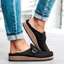 Las mujeres de pisos de época mujer de los zapatos de costura hebilla holgazanes ocasionales del caramelo zapatos de las señoras Zapatos sin cordones Comfort Mujer Zapatillas 2020