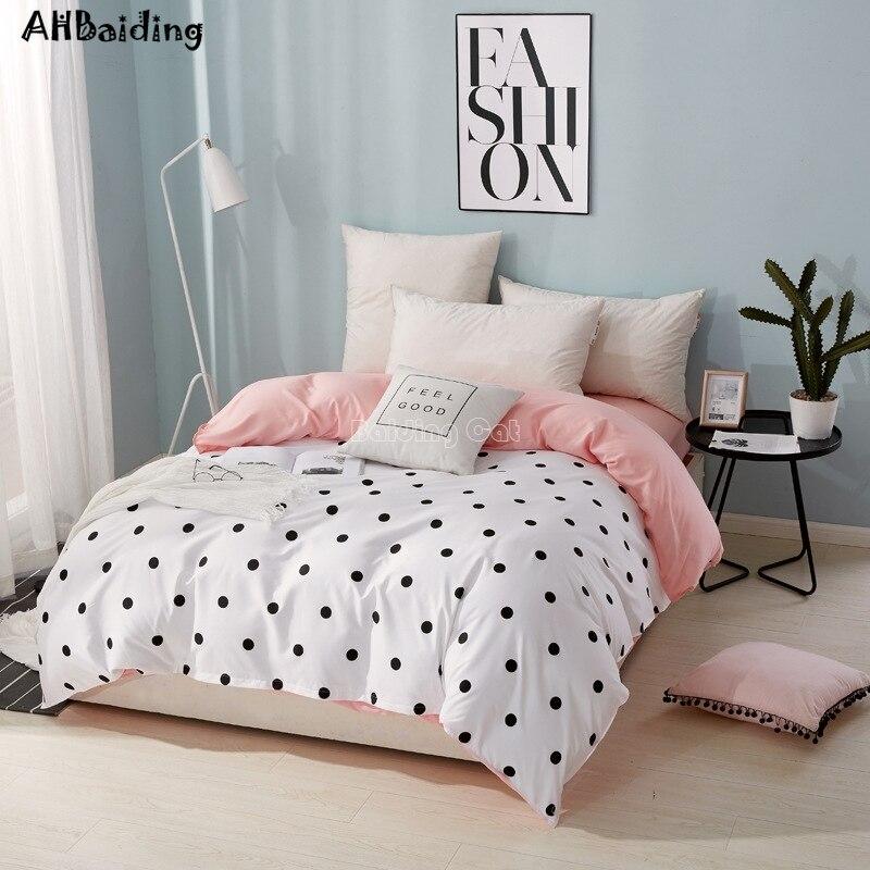 Home Textile Wave Point Duvet Cover With Zipper 1pc Plaid Stripes Quilt Cover 150*200cm,180*220cm,200*230cm,220*240cm Bedclothes