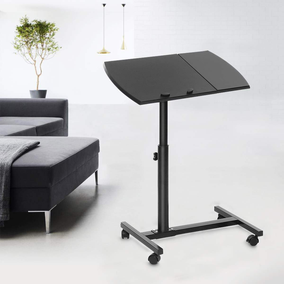 NEW Adjustable Height Laptop Stand Rolling Cart Desk Computer Table Desk Bed Sofa Tray Rolling Notebook Desk With Wheels