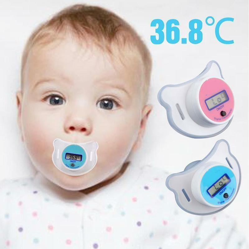 New Baby Nipple Pacifier Thermometer Medical Silicone Pacifier Lcd Digital Children's Thermometer Health Safety Care Thermometer