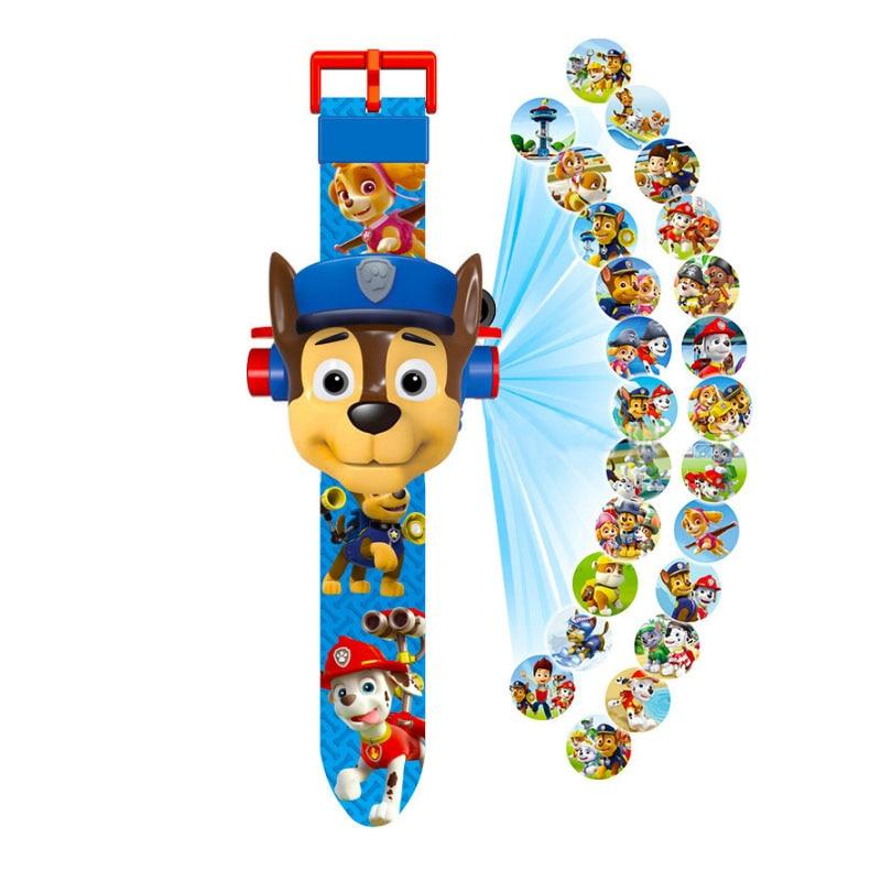 Paw patrol игрушки набор 3D проекционные часы фигурка на день рождения Аниме Фигурка Patrulla Canina игрушка подарок - Цвет: 4