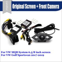 Car Front View camera System For Volkswagen VW Golf Sportsvan CANBUS Connect Original Factory Screen Monitor AUTO CAM Decoder