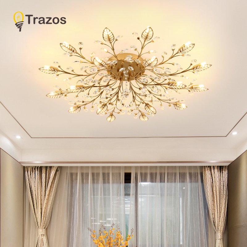US $76.01 45% OFF|TRAZOS New item fancy ceiling light LED Crystal ceiling  lamp modern lamps for living room lights,AC110 240V DIY Crystal lighting-in  ...