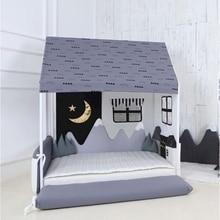 Newborns cama bedbumper protector anti-collision snow mountain decorative bed surround For baby cot accessories washable