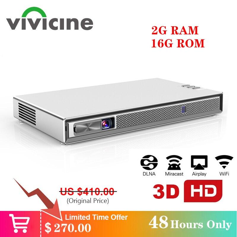 Vivicine t5 4k mini projetor, android 6.0 bluetooth 4.2, 4000 mah bateria, smart hdmi usb jogo de computador móvel proyector beamer