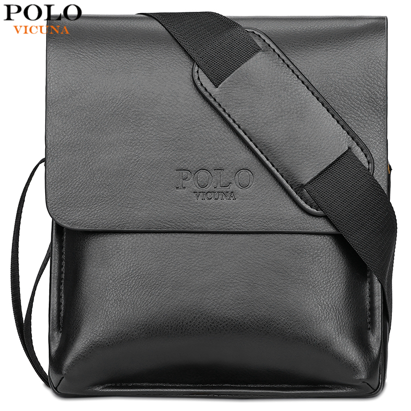 VICUNA POLO Famous Brand Leather Men Bag Casual Business Leather Bag Set Man Messenger Bag Vintage Crossbody Bag bolsas male