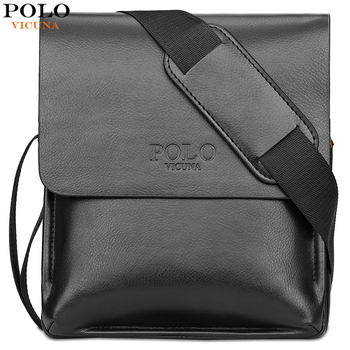 VICUNA POLO Famous Brand Leather Men Bag Casual Business Leather Bag Set Man Messenger Bag Vintage