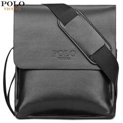 Vicuña POLO famosa marca de cuero para hombres bolsa de cuero de negocios Casual conjunto de bolsa de mensajero para hombre bolso de bandolera Vintage bolsas para hombre