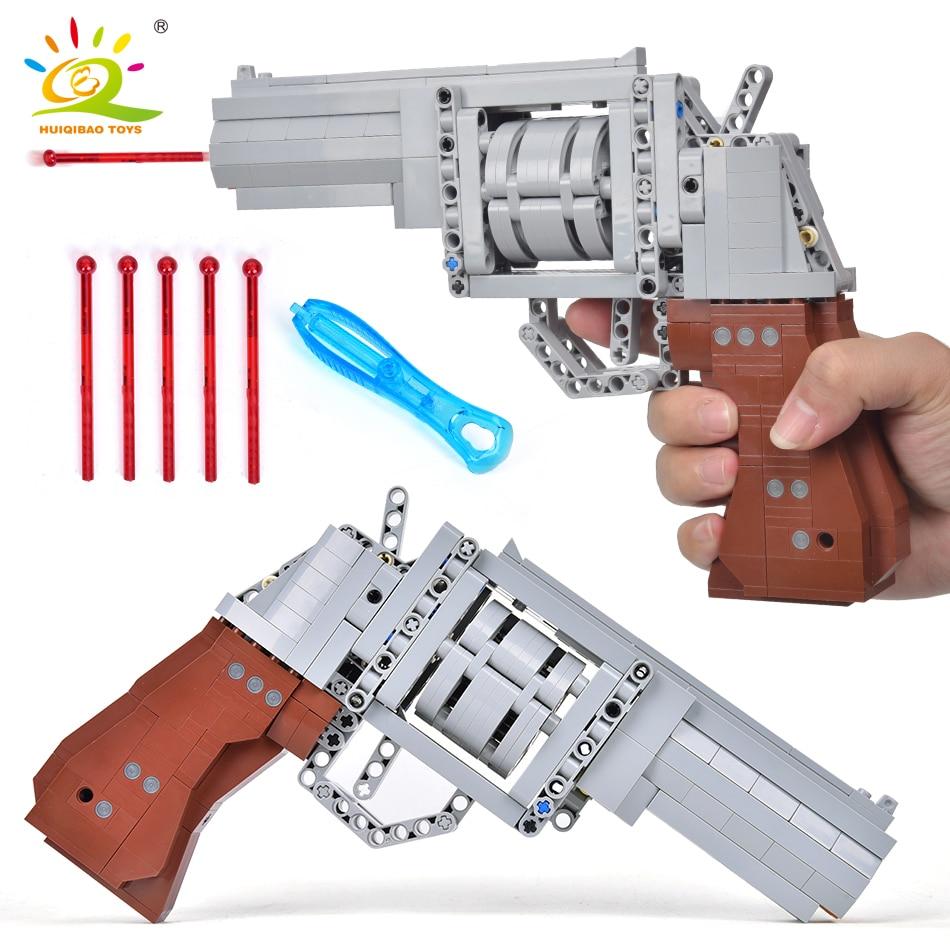 HUIQIBAO Military Technical Gun 475PCS M625 Revolver Model Building Blocks Set Weapon Brick City DIY Game Toys For Children Boys