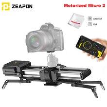 재고 있음 Zeapon 전동 마이크로 2 레일 슬라이더 DSLR 미러리스 카메라 w/ Easylock 2 로우 프로파일 마운트 용 휴대용 알루미늄 합금