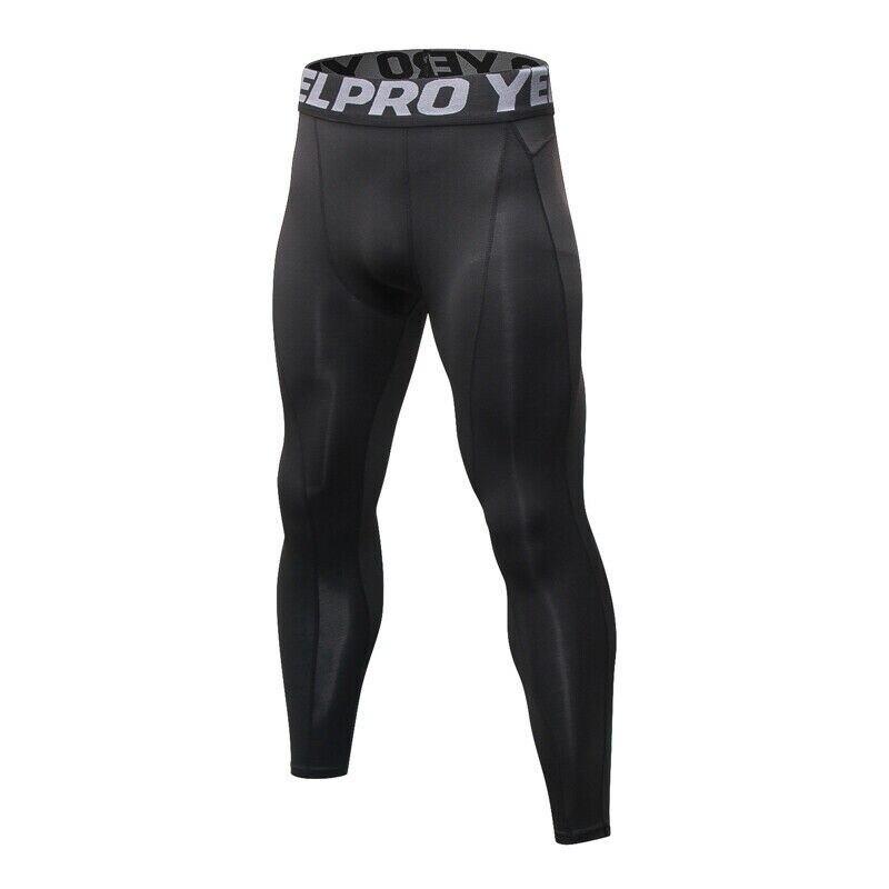 Yoga Pants Men Push Up Professional Running Fitness Gym Sport Leggings Solid Color Sheath Skinny Tight Trouser Pencil Leggins