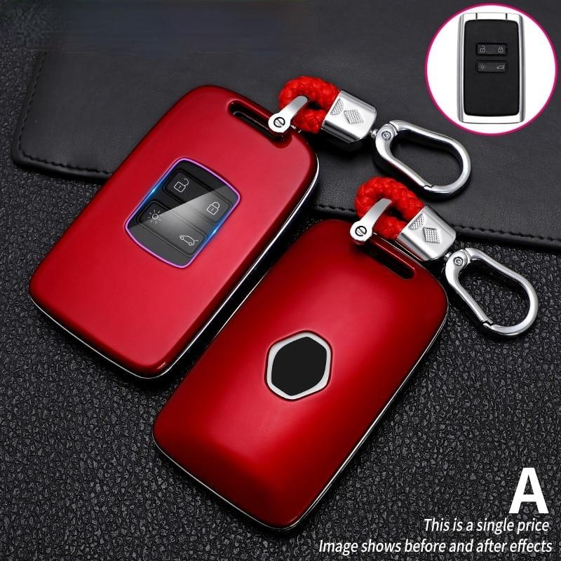 Чехол для автомобильного ключа Renault talisman, Жесткий Чехол из углеродного волокна с имитацией жесткого брелка для Renault Kadjar, Megane 4, Koleos
