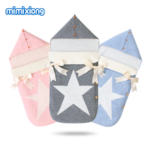 Envelopes for Newborns Five Star Knitted Sleeping Bags Autumn Grey Button Up Infant Baby Swaddle Wrap Sleep Sacks Winter Blanket стоимость