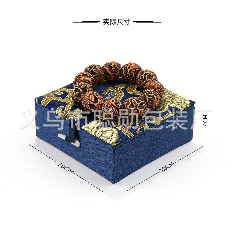 Crafts Jewelry Bag Top Grade Buddhist Prayer Bead Jewlery Box Gift Box Bracelet Shou Chuan He Retro Accessories Gift Box