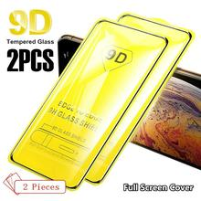 2PCS 9D Full Glue Tempered Glass for iPhone SE 2020 Screen Protector