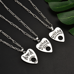 Vintage Women Men Gothic Ouija Shape Board Pendant Chain Necklace Jewelry Halloween Gift(China)