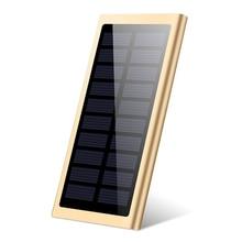 Xiaomi ультра-тонкий солнечный внешний аккумулятор, зарядное устройство для телефона, аккумулятор 20000 мА/ч, внешняя мобильная портативная батарея, двойной USB внешний аккумулятор