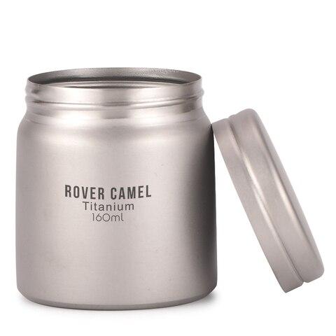 rover camelo titanio armazenamento para cafe cha suger selado canister terno para uso ao ar