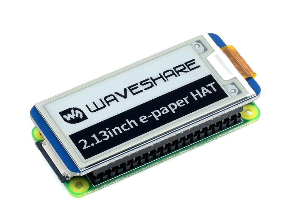 Waveshare 2.13'' E-Paper HAT,250x122,2.13inch E-Ink Display For RaspberryPi 2B/3B/Zero/Zero W,color: Black,white,partial Refresh