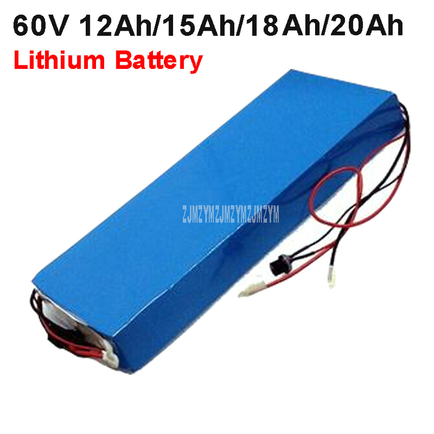 60V 12Ah/15Ah/18Ah/20Ah Lithium Battery Pack 1000W For Two Wheel Electric Vehicle Electric Bicycle Motorcycle Scooter