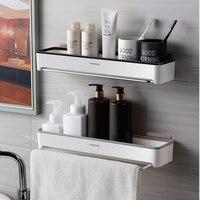 Bad Regal Wand Regale Shampoo Lagerung Rack Mit Handtuch Bar Wc Lagerung Wasserdichte Dusche Organizer Bad Veranstalter