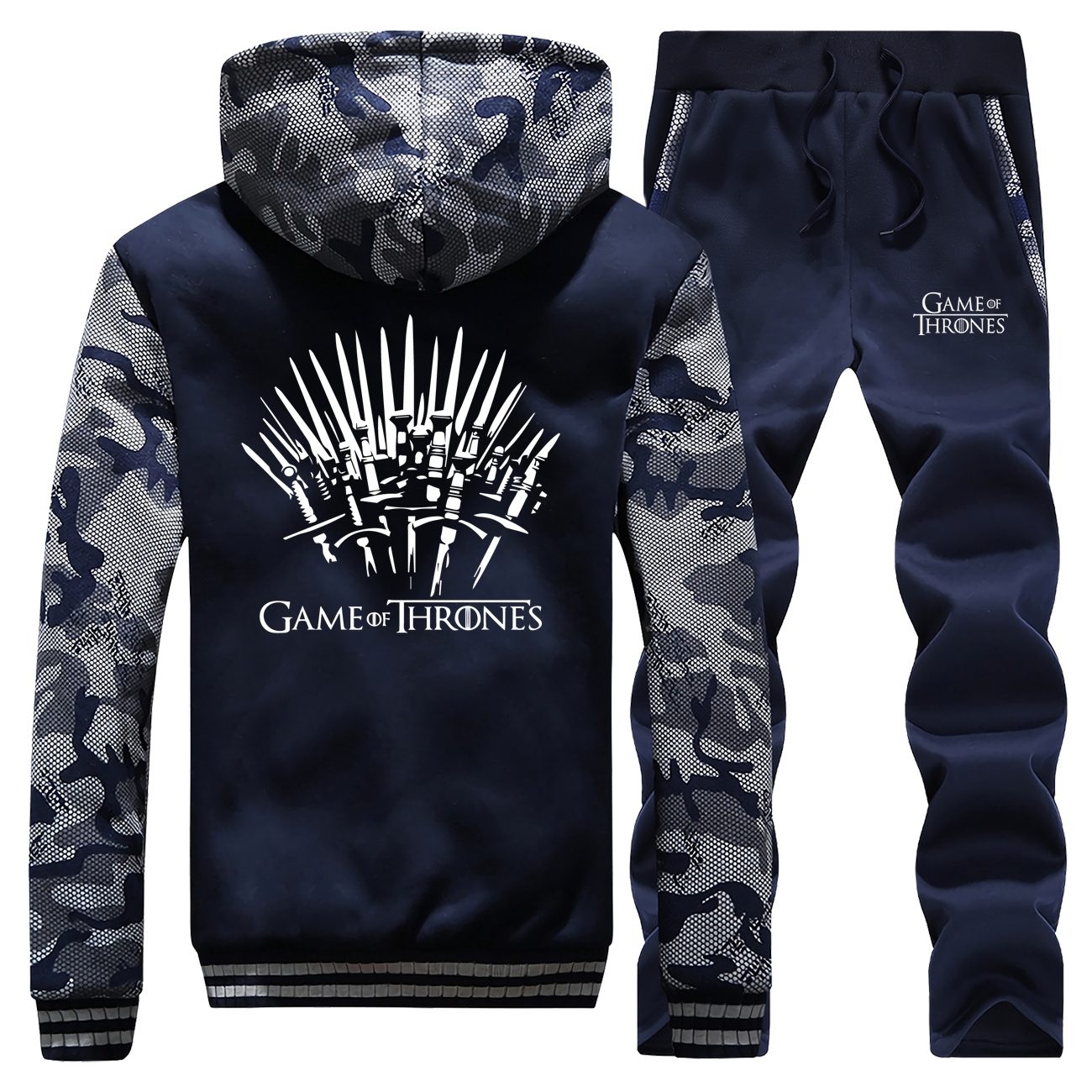 Iron Throne Male Camouflage Set Game Of Thrones Men's Full Suit Tracksuit 2019 Winter Casual Tracksuit Fashion Men's Jogging