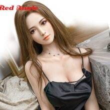 Ângulo vermelho transplante de cabelo silicone sexo bonecas troso esqueleto metal japonês anime bonecas adulto corpo inteiro boneca de amor para homens sexdoll