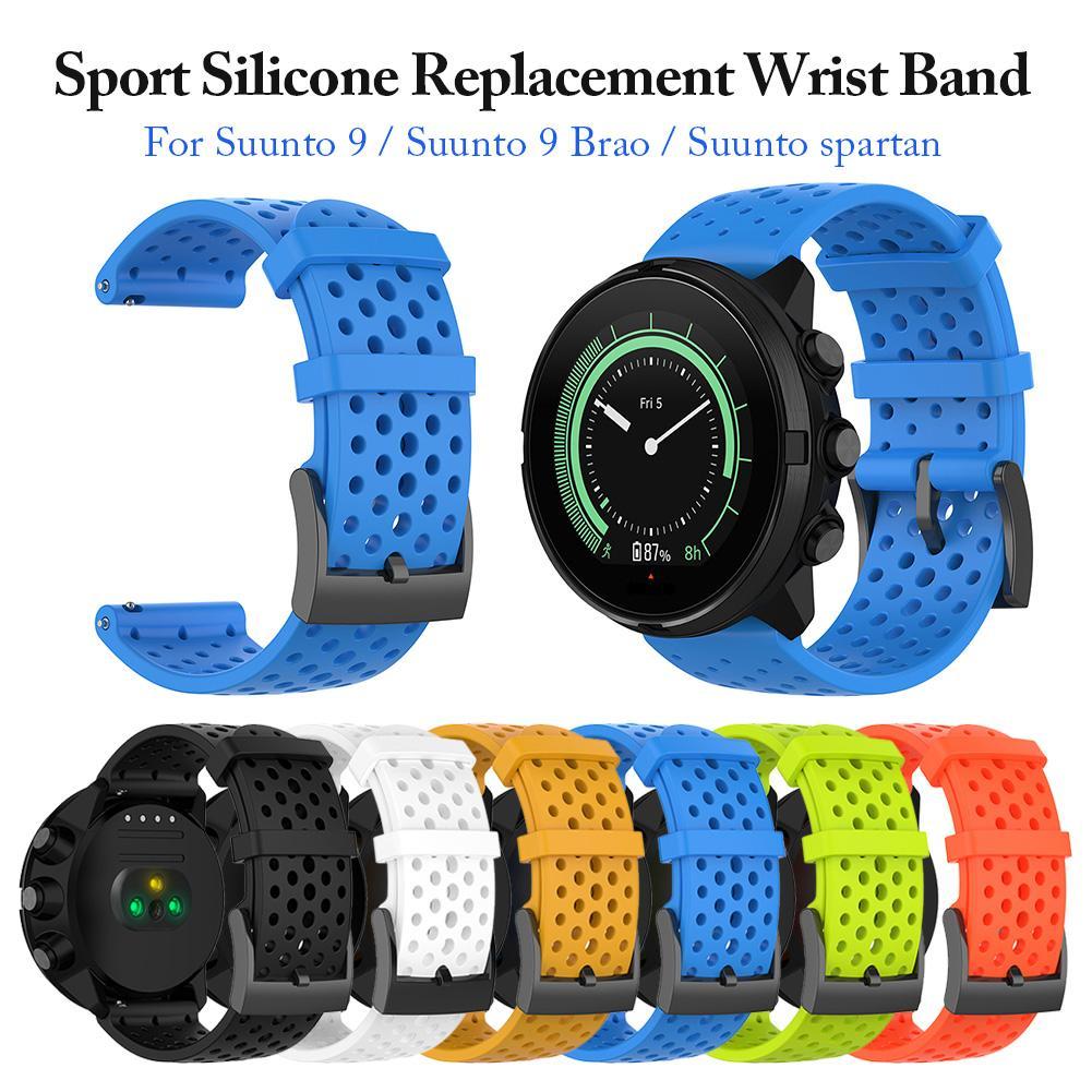 Outdoor Sport Silicone Replacement Watch Band Wrist Strap Bracelet For Suunto 9/Baro Suunto Spartan Sport Wrist HR Baro Smartwat