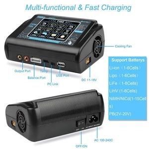 Image 5 - Em estoque htrc t150 carregador de bateria inteligente ac/dc 150w 10a com carga do equilíbrio da tela de toque para lipo lihv vida lilon nicd nimh pb b