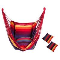Hängematte Stuhl Hängen Stuhl Schaukel Stuhl Sitz mit 2 Kissen für Indoor  Outdoor  Garten-in Anglerstühle aus Sport und Unterhaltung bei