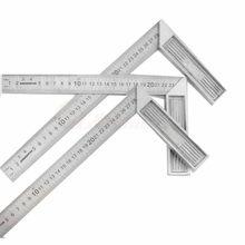 Stop aluminium kwadratowa linijka kątowa 90 toczenie linijka linijka do obróbki drewna stal toczenie linijka narzędzia pomiarowe gauge