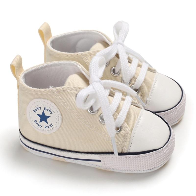 Newborn Infant Baby Star Print Sneaker Anti-slip Soft Sole Toddler Cotton Shoes