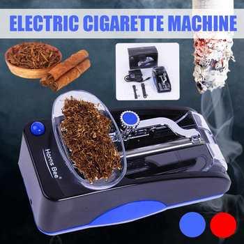 Elektryczna maszyna do papierosów ue wtyczka automatyczny laminator elektroniczny papieros wtryskiwacz Roller DIY papieros narzędzie tanie i dobre opinie Metal ABS Plastic AC110-220V 85mm 80mm cigarette EU Plug Red Black 6 2*2 8*2 5in (15 7*6 4*7cm)