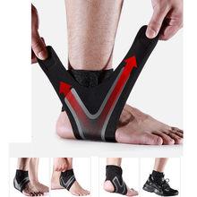 1 sztuk kostki wsparcie Brace, elastyczność bezpłatne dostosowanie ochrony bandaż stóp, zapobieganie zwichnięciu Sport Fitness Guard Band