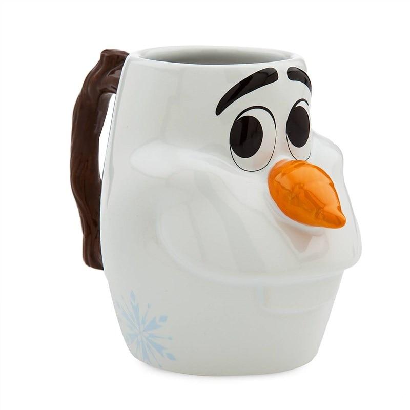 580ml Disney Fashion Frozen 2 Olaf Cup Cute Creative Cartoon Ceramic Mug Water Cup Coffee Milk Breakfast Cup Festival Gifts
