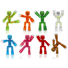1Pc Cute Sticky Animal Robot Sucker Toy Suction Cup Funny Deformable Stick Bot Little Moster Action Figure Toys