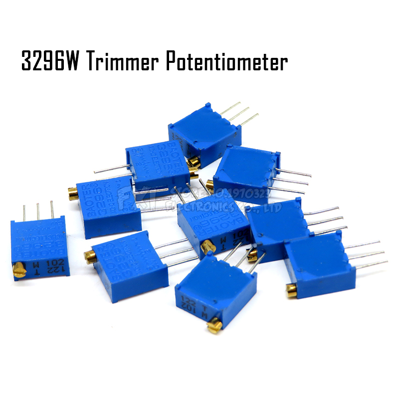 10PCS 3296W Potentiometer Precision Adjustable Resistance Multi-turn Trimming 1K 2K 5K 10K 100K 103 100R Trimmer Potentiometer
