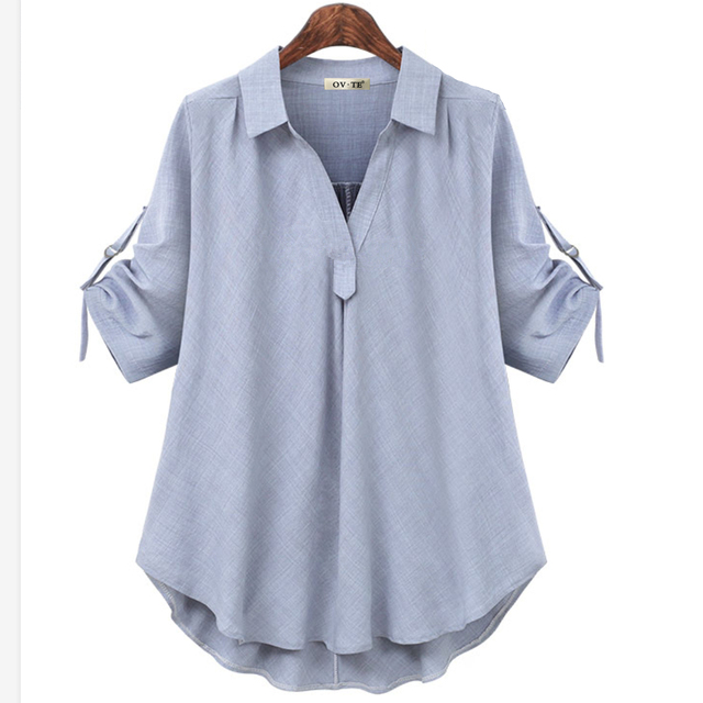 womens tops and blouses white blouse office shirt blusas mujer de moda 2020 long sleeve women shirts clothes chemise femme 4XL 2