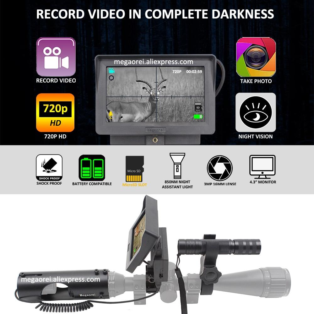 vídeo digital com 850nm ir laser