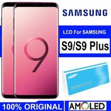 100% super amoled display com moldura para samsung galaxy s9 g960 g960f s9 plus g965 g965f lcd tela de toque digitador assembléia