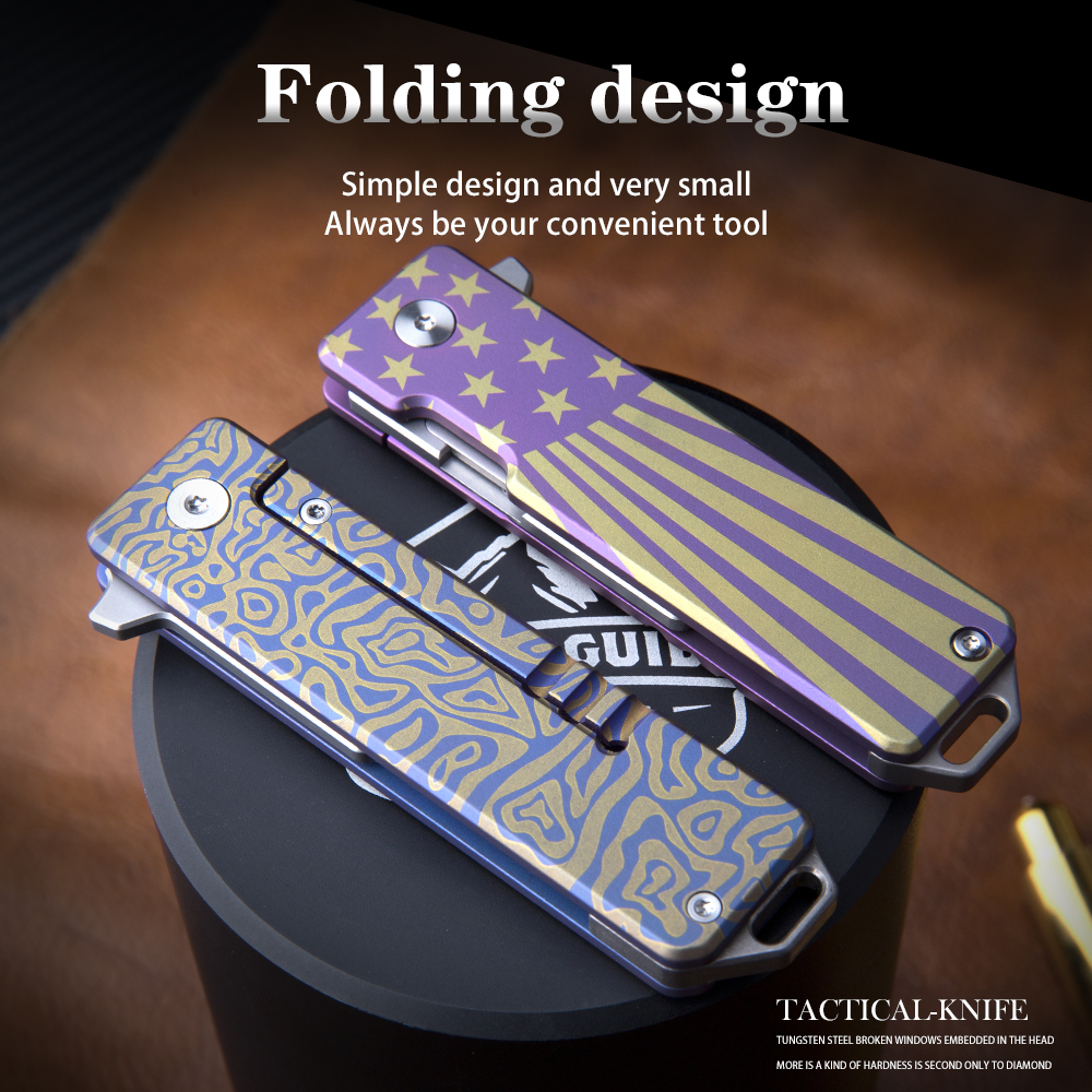 Pocket Titanium Reliable Cutting EDC Knife Tools A Blades Quick Knife Folding Of In Change Outdoor Gadget Need Alloy