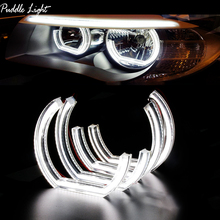 цена на LED Angel Eyes Halo Rings 3D DTM LCI M4 Style For BMW E90 E92 F30 F31 E60 E82 M5 Turn Signal White Yellow Switchback Accessories