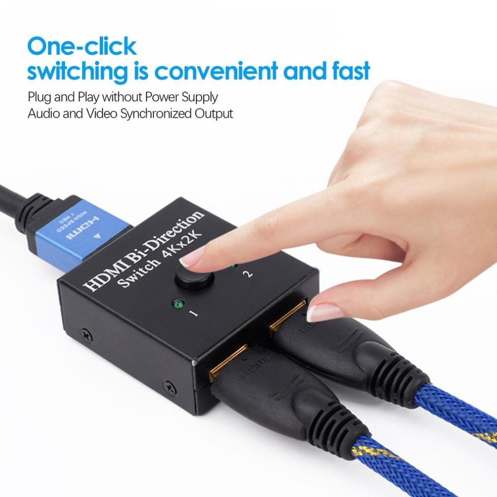 2x1 1x2 UHD 4K Bi Direction HDMI 2.0 Switch Switcher Splitter Hub HDCP 3D